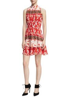 Parker Aurora Sleeveless High-Neck Mini Dress