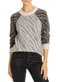 Parker Bella Color-Blocked Zebra Sweater
