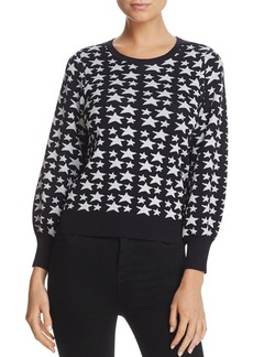 Parker Beven Sparkle Star-Pattern Sweater
