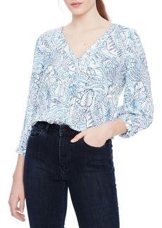 Parker Beverly Print Silk Blouse