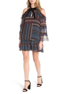 Parker Bianca Cold Shoulder Silk Shift Dress