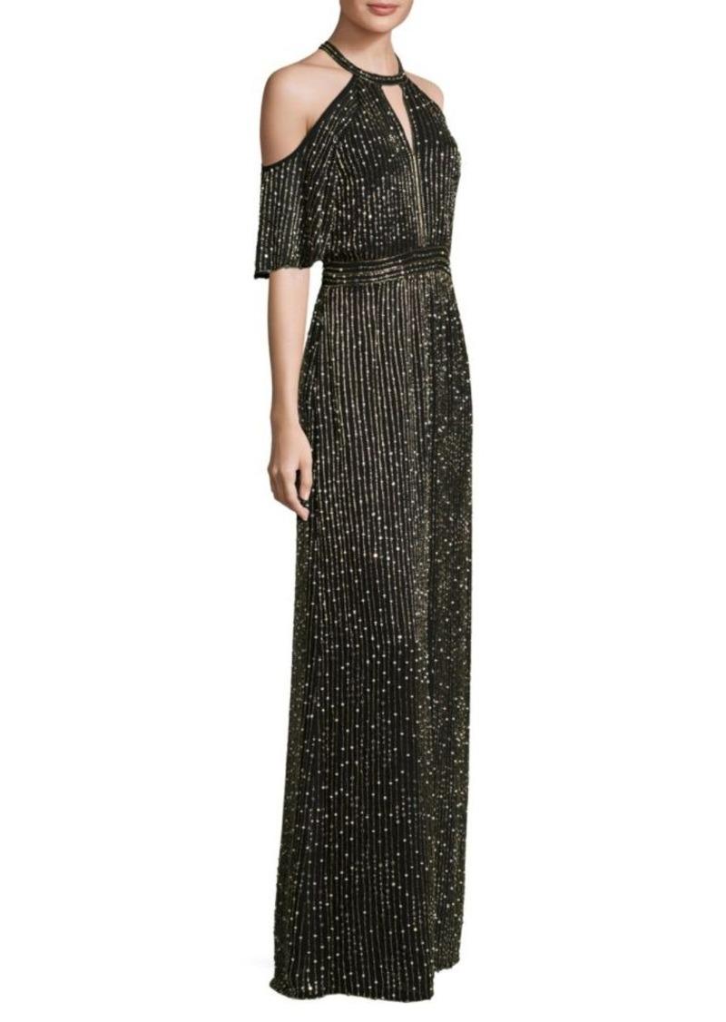 Parker Amy Floor-Length Cold-Shoulder Dress