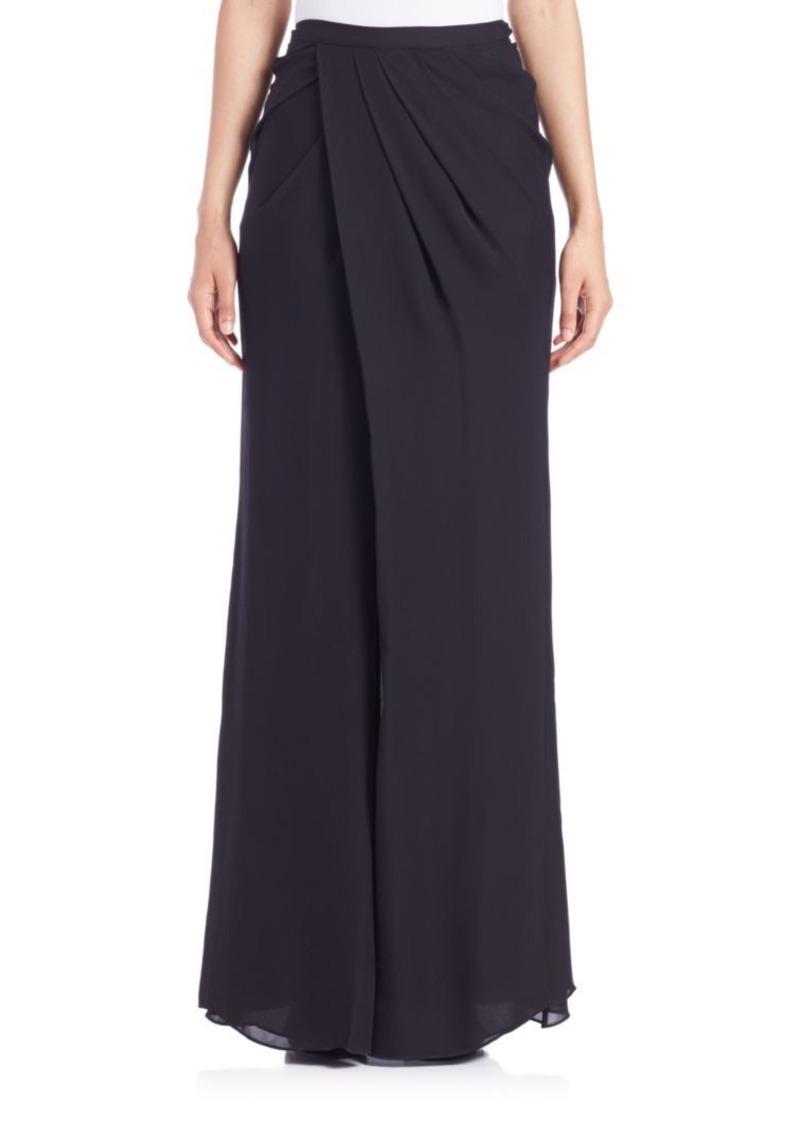 Parker Black Bridger Faux-Wrap Skirt