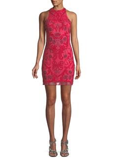 Parker Carmen Sleeveless Embroidered Cocktail Dress