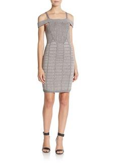 Parker Black Crista Knit Body-Con Dress