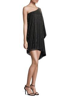 Parker Black Daphine One-Shoulder Silk Dress