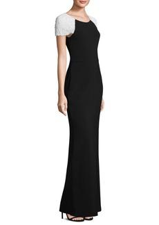 Parker Black Detailed Kaley Column Dress
