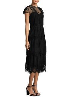 Parker Black Elasa Embroidered Lace Dress