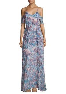 Parker Irene Garden Cold-Shoulder Printed Gown