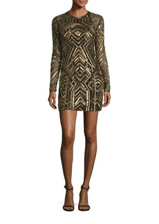 Parker Black Isabelle Embellished Sheath Dress