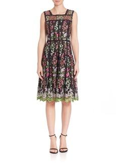 Parker Black Kallie Embroidered Dress