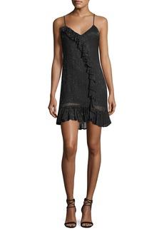 Parker Black Kiara V-Neck Sequin Slip Cocktail Dress