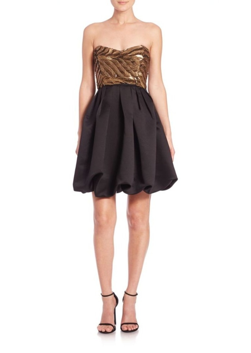 Parker Black Remi Beaded-Top Party Dress