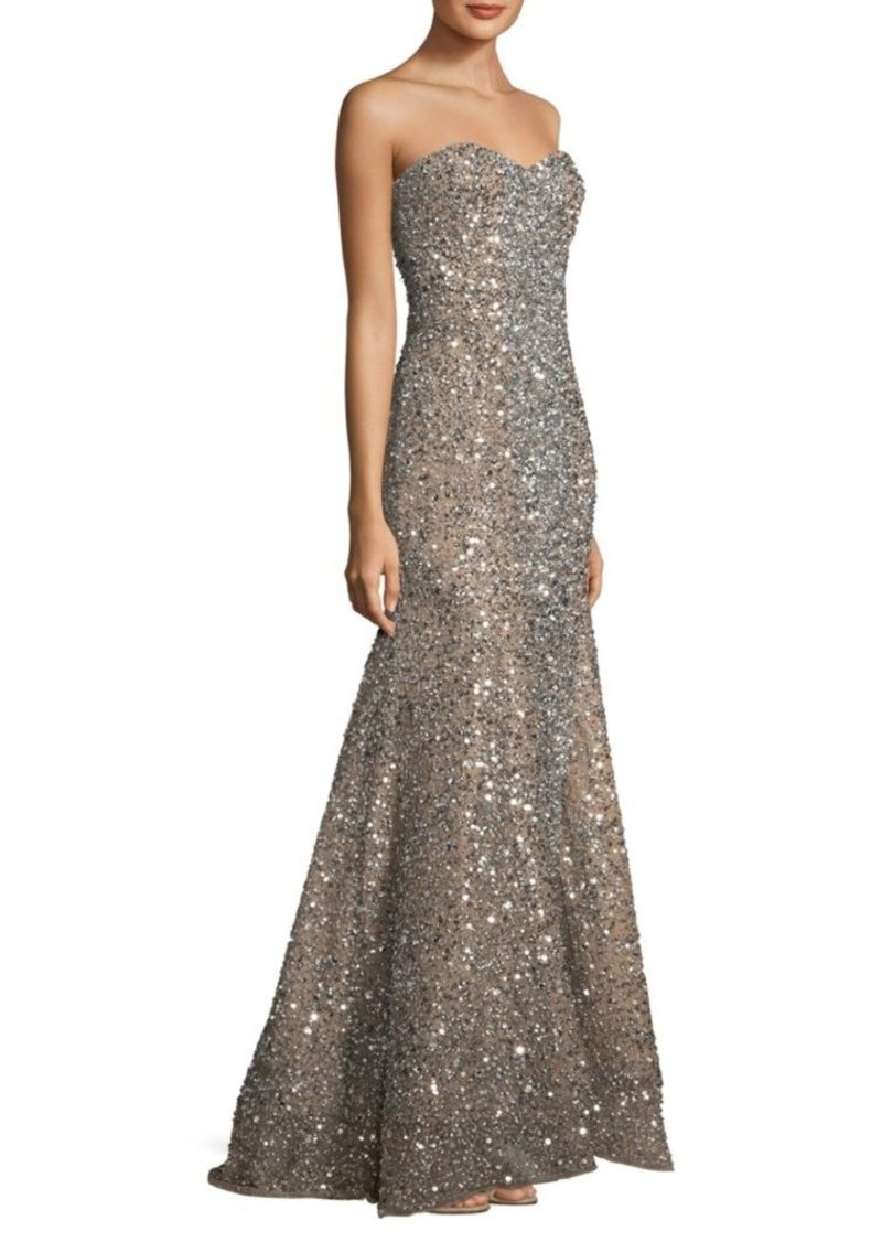 Parker Parker Black Renee Sequin Embellished Gown | Dresses
