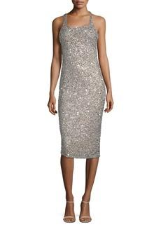 Parker Sage Sleeveless Sparkle Dress