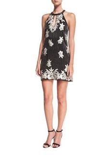 Parker Black Sansa Beaded Floral-Embroidered Cocktail Dress