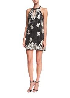 Parker Sansa Beaded Floral-Embroidered Cocktail Dress