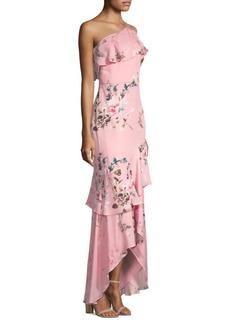 Parker Sharon One-Shoulder Flounce Dress