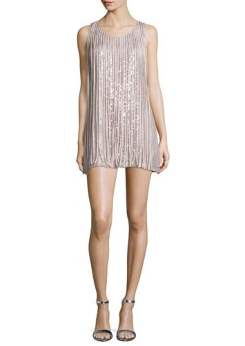 Parker Bryant Sleeveless Mini Dress W/Fringe