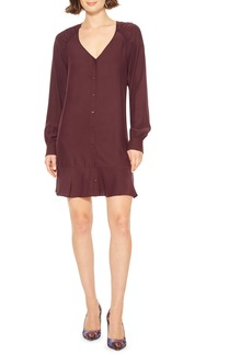 Parker Calantha Long Sleeve Silk Shift Dress