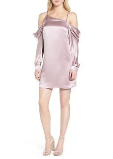 Parker Camille Asymmetrical Silk Minidress