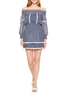 Parker Carah Stripe Off the Shoulder Dress