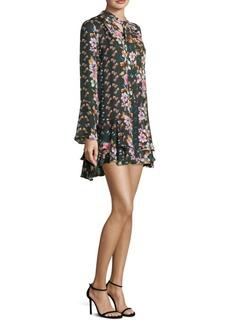 Parker Cathryn Floral Silk Shift Dress