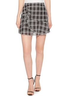 Parker Chris Side Ruched Miniskirt