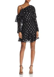Parker Clarisse Ruffled Metallic-Appliqu� Dress
