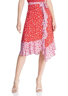 Parker Collins Faux-Wrap Floral Skirt - 100% Exclusive