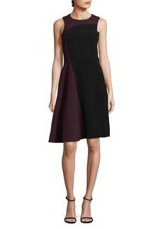 Parker Colorblock Sleeveless Midi Dress