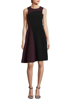 Parker Colorblock Sleeveless Midi Dress