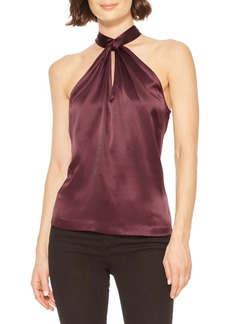 Parker Dallas Sleeveless Silk Halter Top