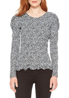 Parker Danna Animal Print Smocked Top