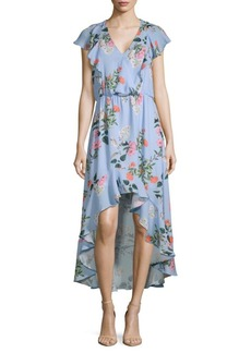 Parker Daphne Floral Hi-Lo Dress