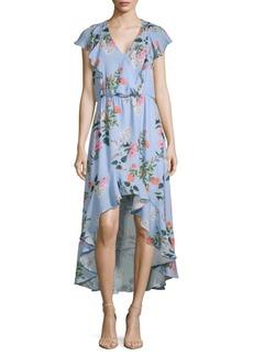 Parker Daphne Floral Hi-Lo Dress
