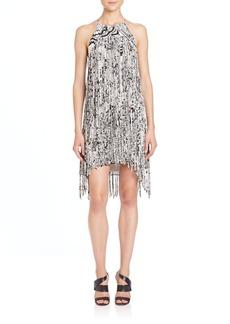 Parker December Silk Print Dress