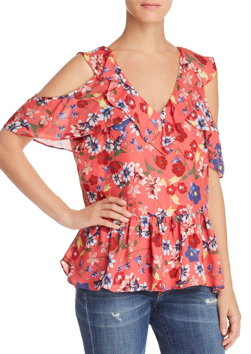 b391f46257797f SALE! Parker Parker Dedra Floral Cold-Shoulder Top