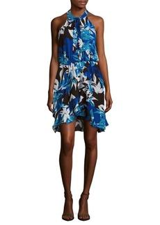 Parker Diane Halter Peplum Dress