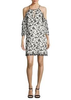 Parker Dolly Embroidered Cold-Shoulder Dress