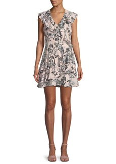 Parker Dorothy Sleeveless Floral-Print Tiered Ruffled Dress