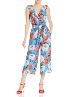 Parker Elara Ruffled Floral Print Jumpsuit
