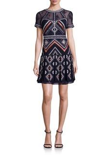 Parker Ellie Embroidered Drop-Waist Dress