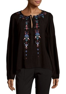 Parker Embroidered Front Top