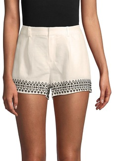 Parker Embroidered Linen-Blend Short