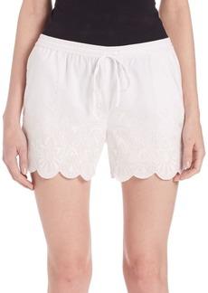 Parker Embroidered Scalloped Hem Shorts