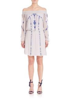 Parker Embroidered Smocked Dress