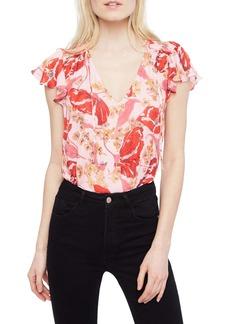 Parker Exie Floral Silk Top