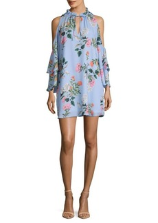 Parker Floral Cold-Shoulder Dress