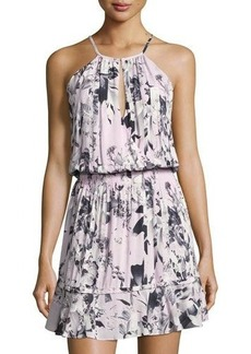 Parker Floral-Print Ruffled Halter Dress